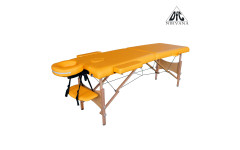 Массажный стол DFC NIRVANA, Optima, дерев. ножки, цвет горчичный (Mustard)
