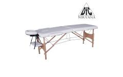Массажный стол DFC NIRVANA, Relax, дерев. ножки, цвет кремовый (Cream)