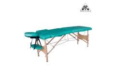 Массажный стол DFC NIRVANA, Optima, дерев. ножки, цвет зеленый (Green)
