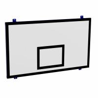 Щит баскетбольный игровой пристенный 1050х1800 мм (фанера 15 мм на металлокаркасе)